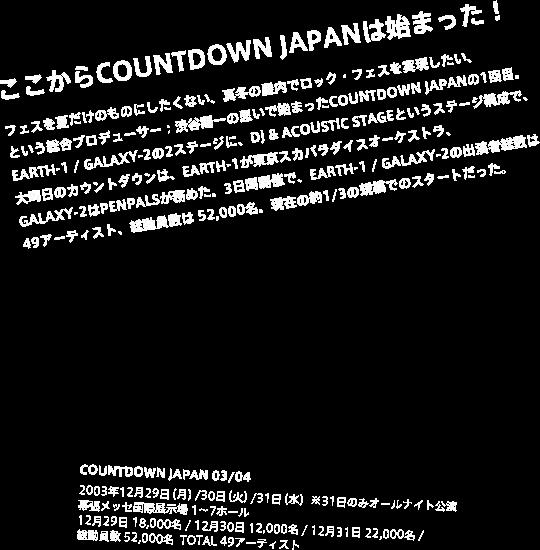 ここからCOUNTDOWN JAPANは始まった!